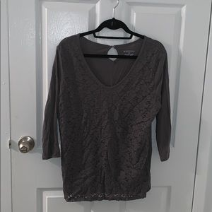 Casual lace front tee